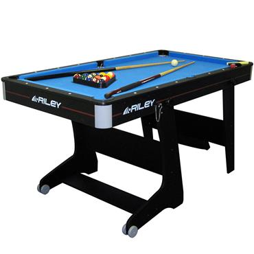 5ft Folding Pool Table with Table Tennis Table | Blue