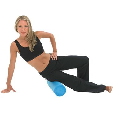 "Fitness-Mad Foam Roller Blue 6"" (Half Length 18"")"