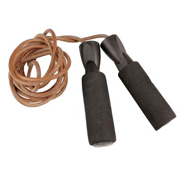 Fitness-Mad 3m Pro Leather Jump Rope - Brown