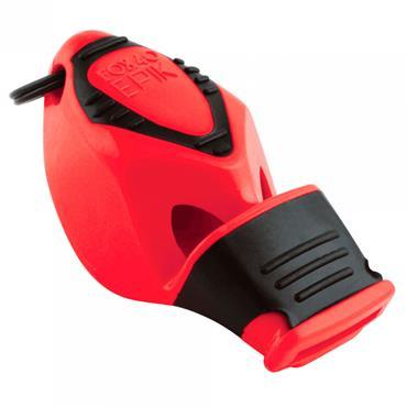 Fox 40 Epik CMG Safety Whistle C/W Wrist - Lanyard Red