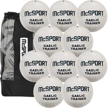 Gaelic Trainer Football Size 4 | 10 Pack + Bag