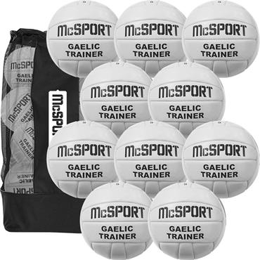 Gaelic Trainer Football Size 5 | 10 Pack + Bag
