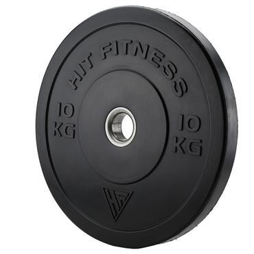 Hit Fitness 10kg Commercial Black Rubber Bumper Plate