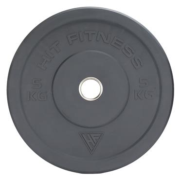 Hit Fitness 5kg Commercial Coloured Rubber Bumper Plate