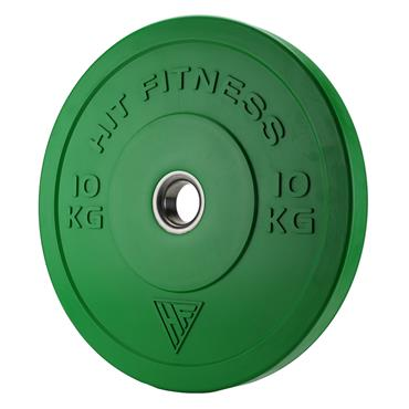 Hit Fitness Coloured Olympic Rubber Bumper Plate | 10kg