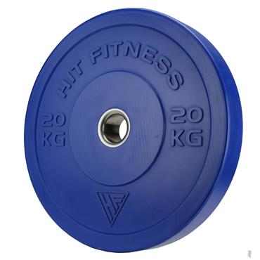 Hit Fitness 20kg Commercial Coloured Rubber Bumper Plate