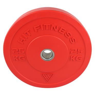 Hit Fitness 25kg Commercial Coloured Rubber Bumper Plate