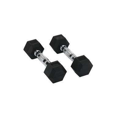 Hit Fitness Rubber Hex Dumbbells | 2kg