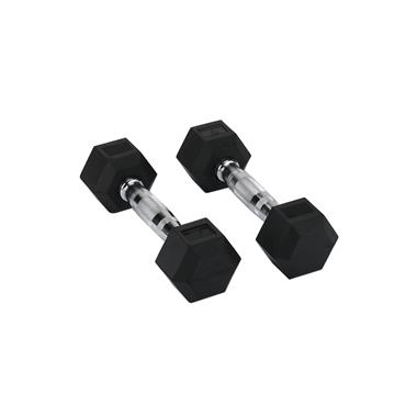 Hit Fitness Rubber Hex Dumbbells | 3kg