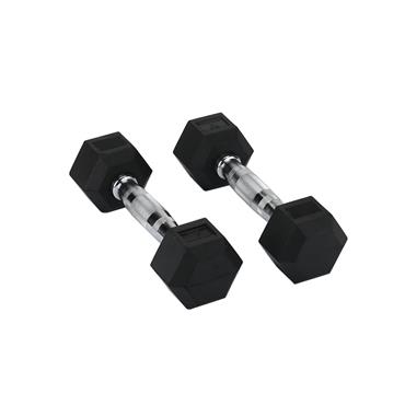 Hit Fitness Rubber Hex Dumbbells | 5kg