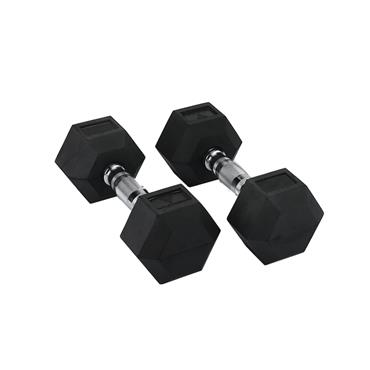 Hit Fitness Rubber Hex Dumbbells | 7kg