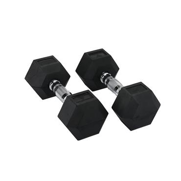 Hit Fitness Rubber Hex Dumbbells | 7.5kg