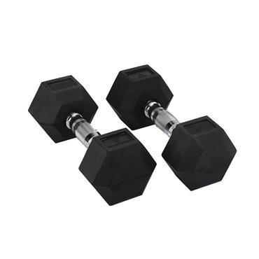 Hit Fitness Rubber Hex Dumbbells | 9kg