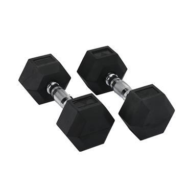 Hit Fitness Rubber Hex Dumbbells | 10kg