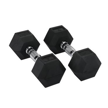Hit Fitness Rubber Hex Dumbbells | 12.5kg