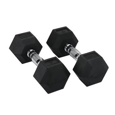 Hit Fitness Rubber Hex Dumbbells | 15kg