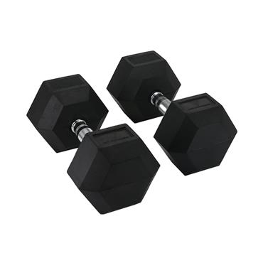Hit Fitness Rubber Hex Dumbbells | 20kg