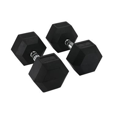 Hit Fitness Rubber Hex Dumbbells | 22.5kg