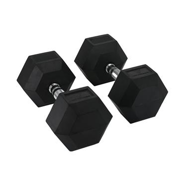 Hit Fitness Rubber Hex Dumbbells | 25kg