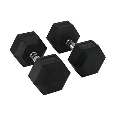 Hit Fitness Rubber Hex Dumbbells | 30kg