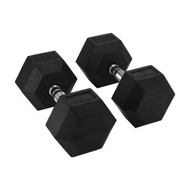 Hit Fitness Rubber Hex Dumbbells | 32.5kg