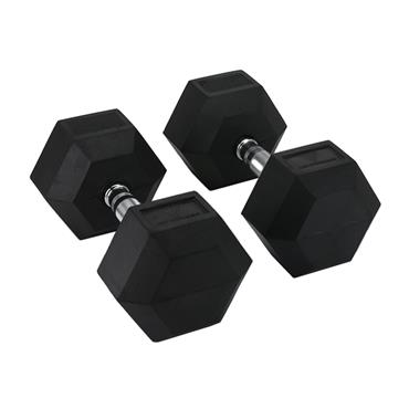 Hit Fitness Rubber Hex Dumbbells | 35kg