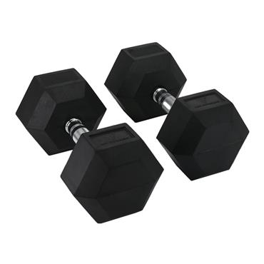 Hit Fitness Rubber Hex Dumbbells | 40kg