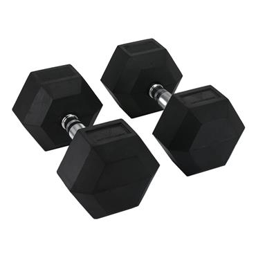 Hit Fitness Rubber Hex Dumbbells | 42.5kg