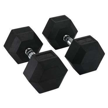 Hit Fitness Rubber Hex Dumbbells | 45kg