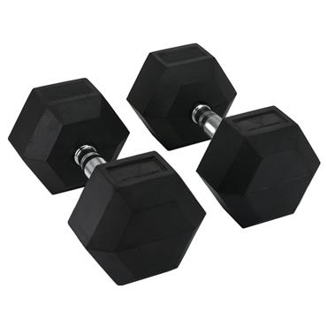 Hit Fitness Rubber Hex Dumbbells | 47.5kg