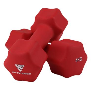 Hit Fitness Neoprene Studio Dumbbells | 4kg