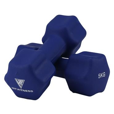 Hit Fitness Neoprene Studio Dumbbells | 5kg