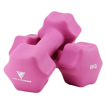 Hit Fitness Neoprene Studio Dumbbells | 6kg