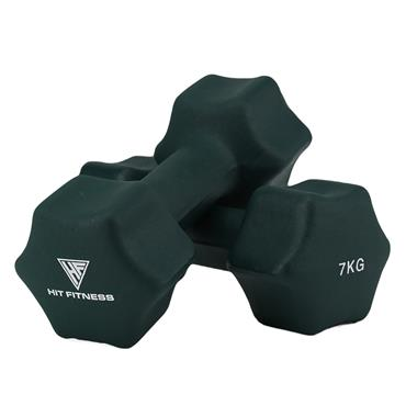 Hit Fitness Neoprene Studio Dumbbells | 7kg
