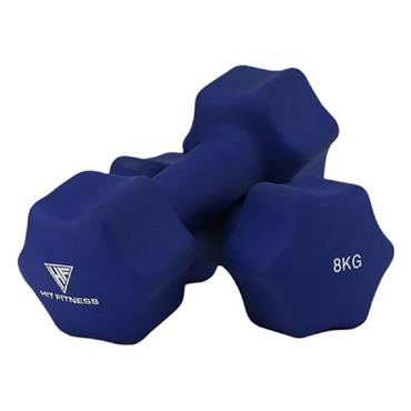 Hit Fitness Neoprene Studio Dumbbells | 8kg