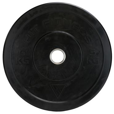Hit Fitness Olympic Rubber Bumper Plate (Black) | 5kg