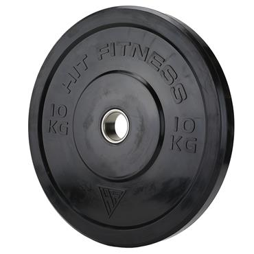Hit Fitness Olympic Rubber Bumper Plate (Black) | 10kg