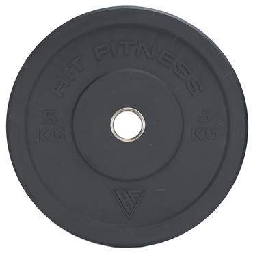 Hit Fitness 5kg Semi-Commercial Coloured Rubber Bumper Plate