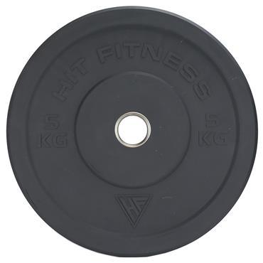 Hit Fitness 5kg Semi-Commercial Coloured Rubber Bumper Plate