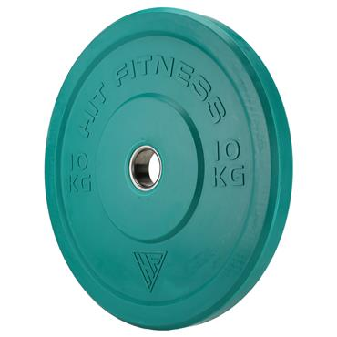 Hit Fitness 10kg Semi-Commercial Coloured Rubber Bumper Plate