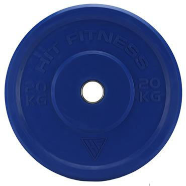 Hit Fitness Olympic Rubber Bumper Plate (Colour) | 20kg