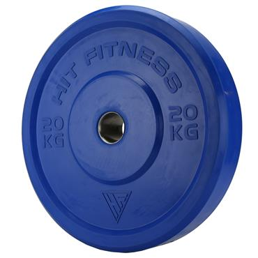 Hit Fitness 20kg Semi-Commercial Coloured Rubber Bumper Plate