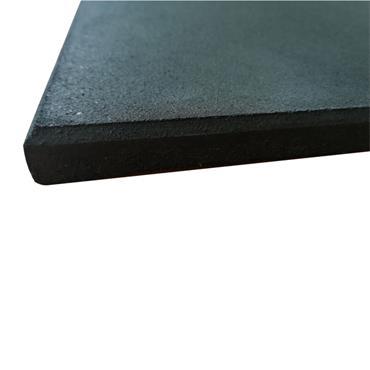 Rubber Gym Flooring Tile | Black 1m x 1m x 20mm Thick