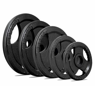 Olympic Cast Iron Tri-Grip Disc | 15KG