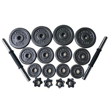 Hit Fitness Deluxe 20kg Hammertone Dumbbell Kit