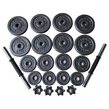 Hit Fitness Deluxe 30kg Hammertone Dumbbell Kit