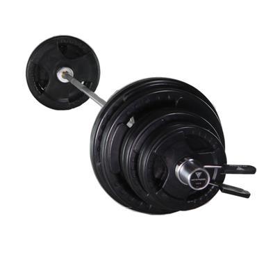 Hit Fitness 95Kg Olympic Rubber Barbell Kit + 6' Bar