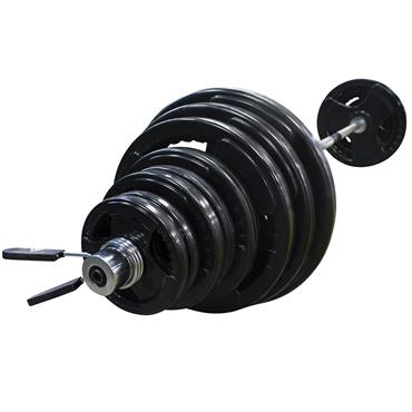 Hit Fitness 145Kg Olympic Rubber Radial Barbell Kit with 7ft Bar