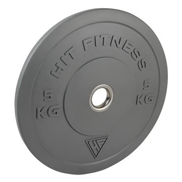 Hit Fitness 100Kg Coloured Olympic Rubber Bumper Plate Set | Commercial