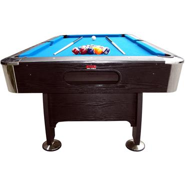7ft Black Cat Deluxe Pool Table | Blue